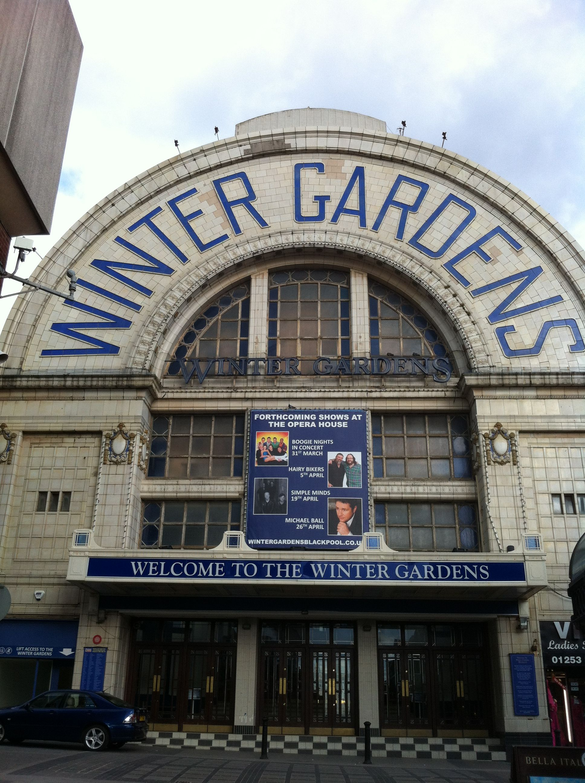 W is of course for the famous Winter Gardens. Sadly I couldn't get in due a strictly ballroom type event.