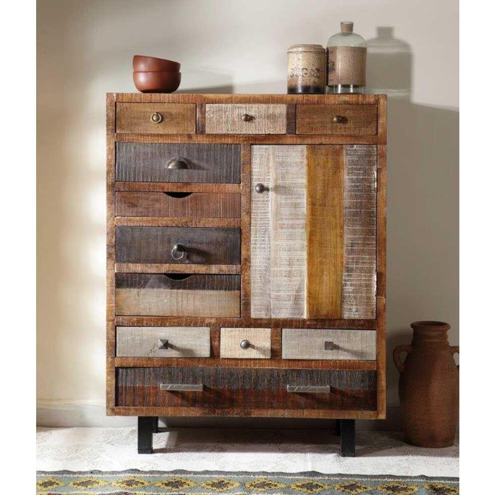 design kommode mit 11 schubladen holz highboard wohnzimmerschrank kommode flurkommode. Black Bedroom Furniture Sets. Home Design Ideas