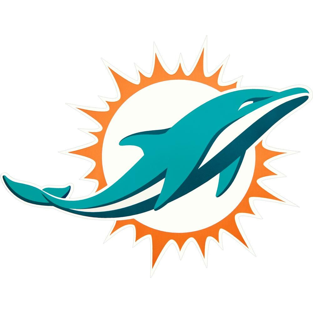 Nice Applied Icon NFL Miami Dolphins Outdoor Logo Graphic Large NFOP1803  for sale