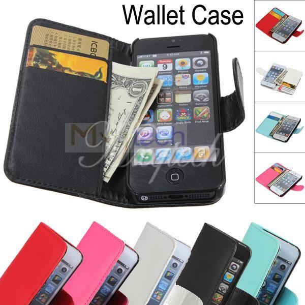 newest 2cc5c 2ddab Magnetic Flip Folio Credit ID Card Slot Leather Wallet Case Cover ...