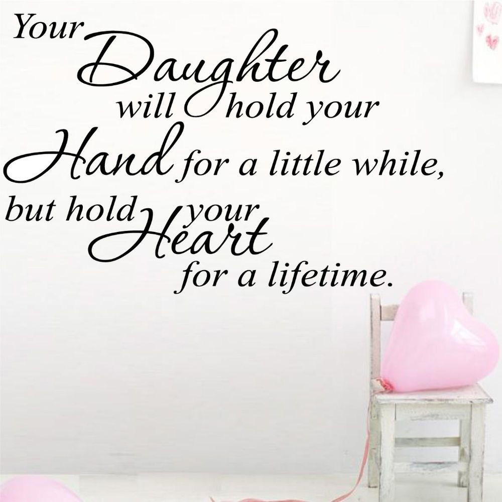 I Live For My Daughter Quotes: Daughter Quotes, Quotes, Wall Art Quotes