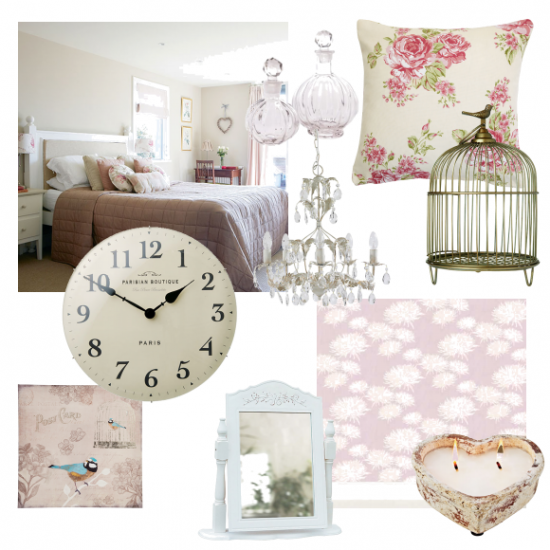 Dusky pink and cream country getaway moodboards for Cream and pink bedroom ideas