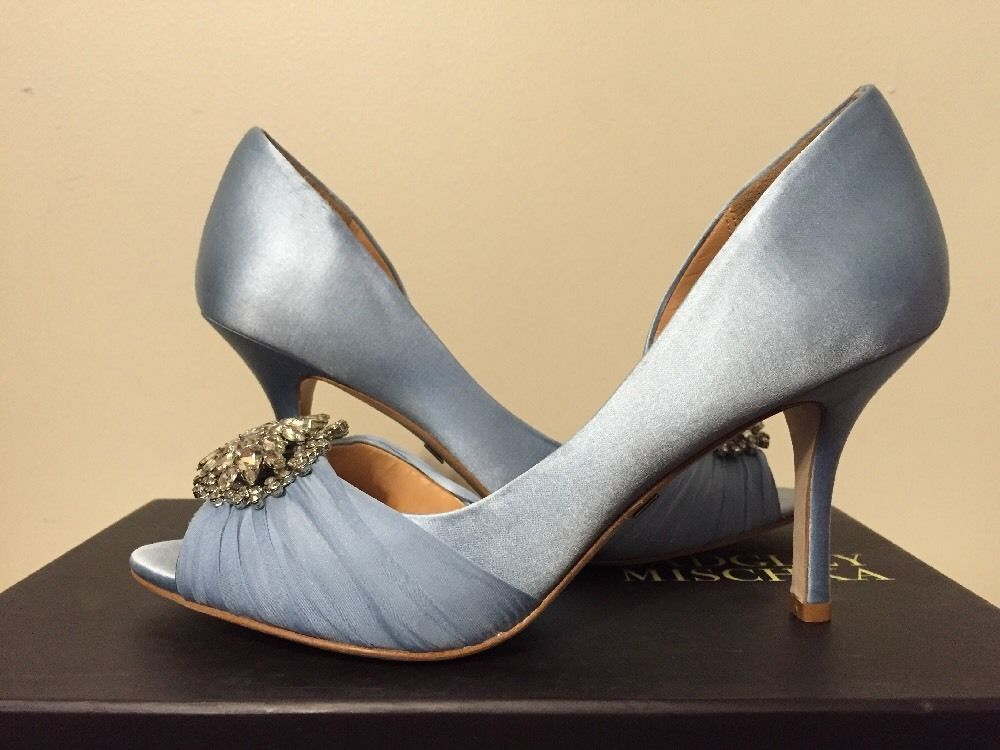 00b4e1fcf83c Badgley Mischka Pearson Light Blue Satin Women s Dressy Evening Heels Pumps  7.5  BadgleyMischka  FashionDressyEveningHeelsPumpsPeepToe