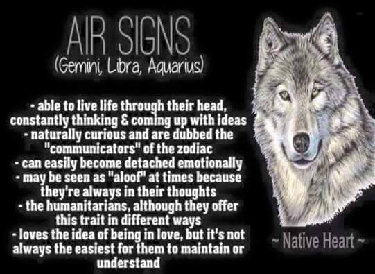Traits of air signs