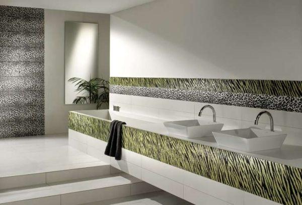 dekorative badezimmer fliesen settecento tier muster Bathroom - muster badezimmer fliesen