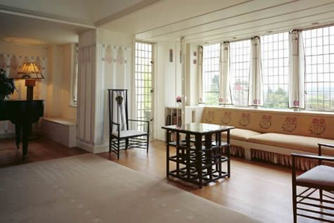 interior of Mackintosh\'s Hill House, in Helensburgh, Scotland ...
