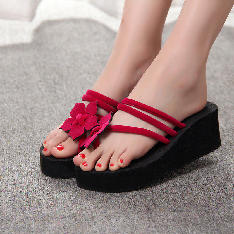 c077dc9502941b  8.99 - Women Wedge Thick Slippers Flip Flops Platform Thong Sandals Beach  Summer Shoes  ebay  Fashion