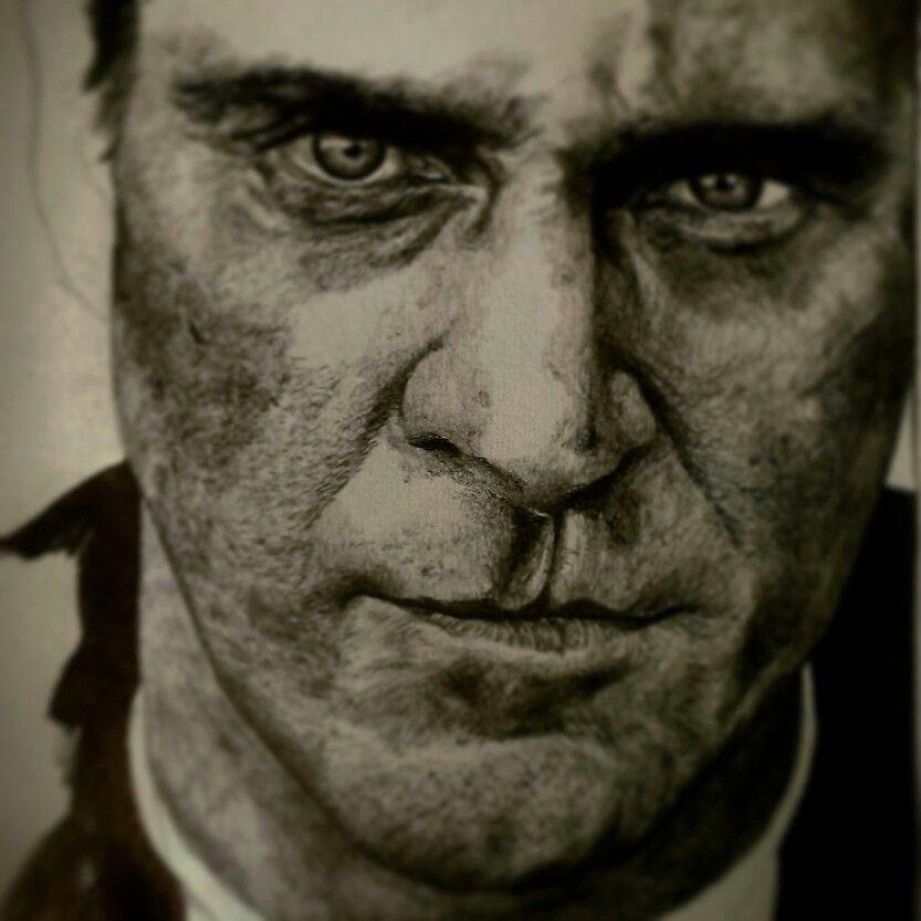 Joaquin Phoenix realistic drawing