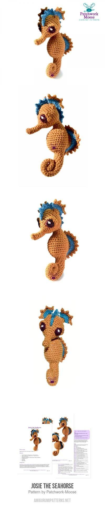 Josie the Seahorse amigurumi pattern | Crochet animals | Pinterest ...