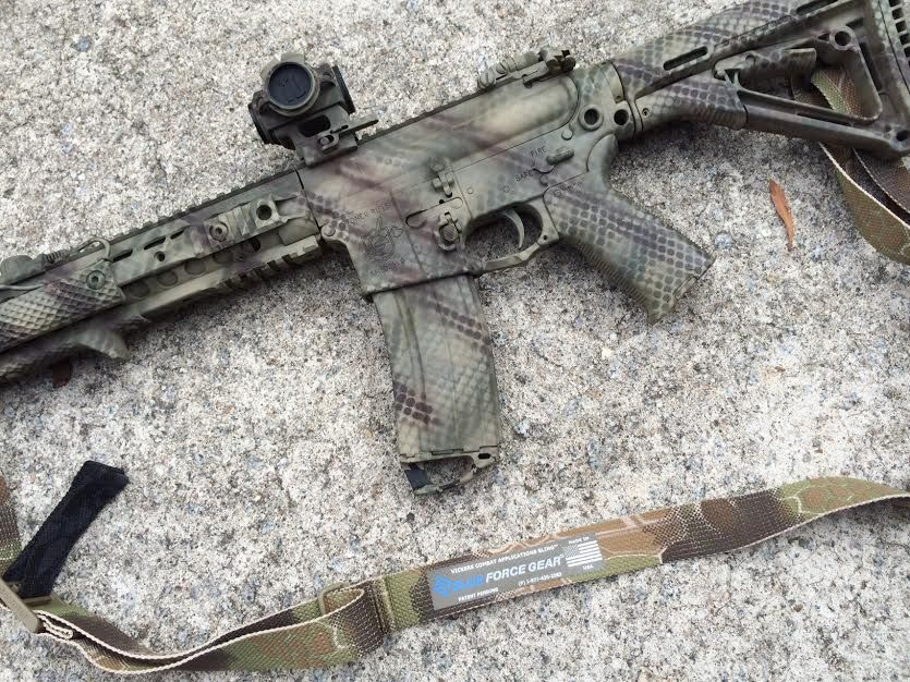 Olive Green Rifle Paint Job