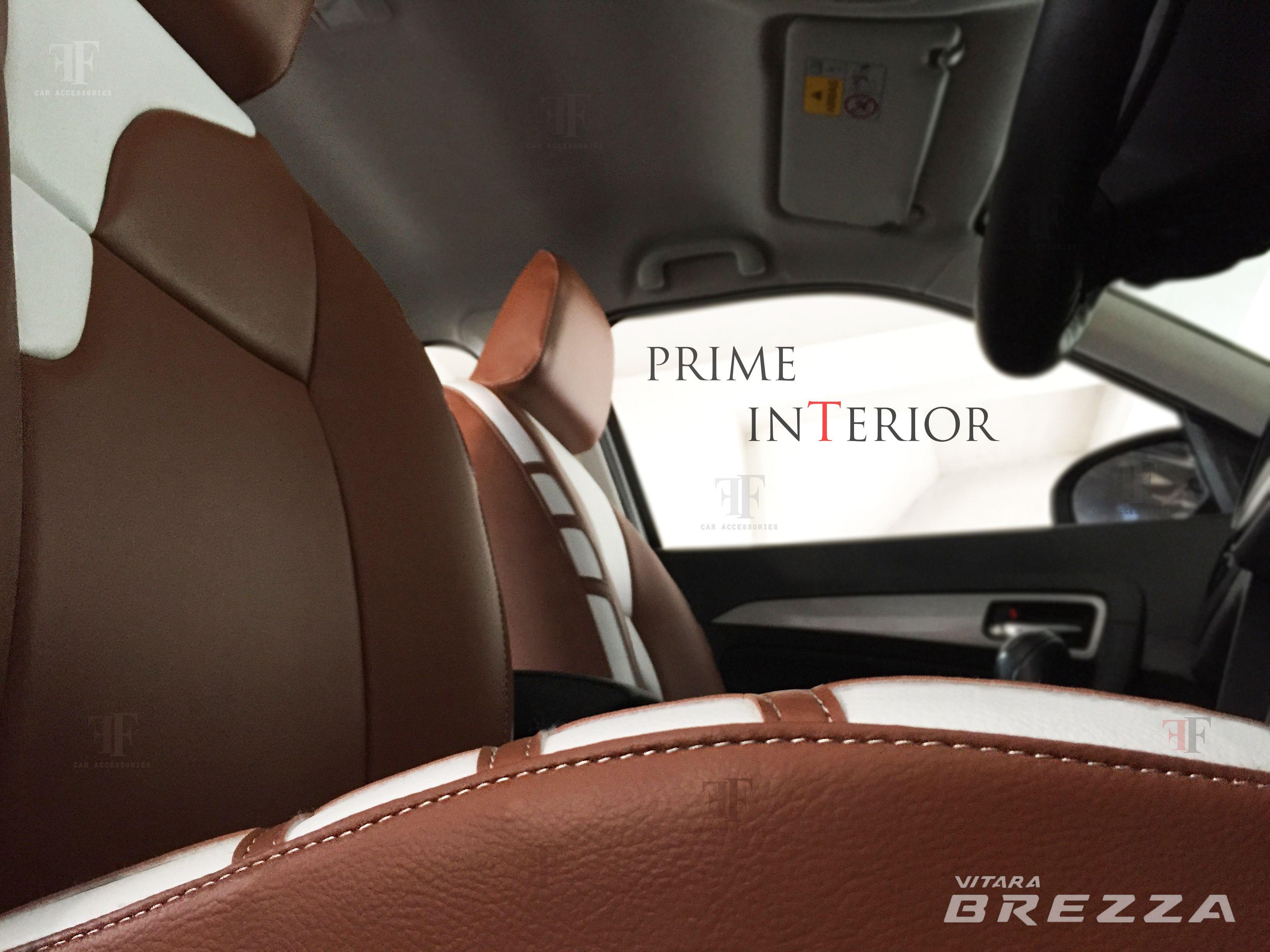 Prime interior for vitara brezza customised by team ff car accessories chennai best car accessories