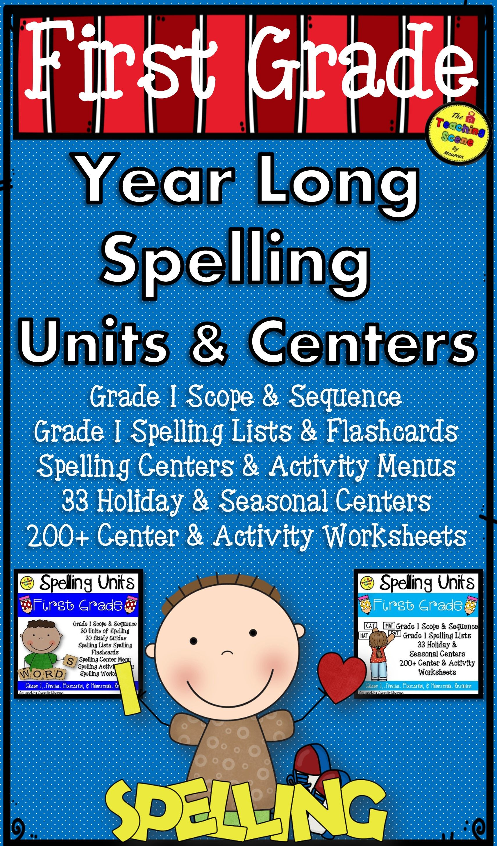 First Grade Year Long Spelling Curriculum Units Amp Centers