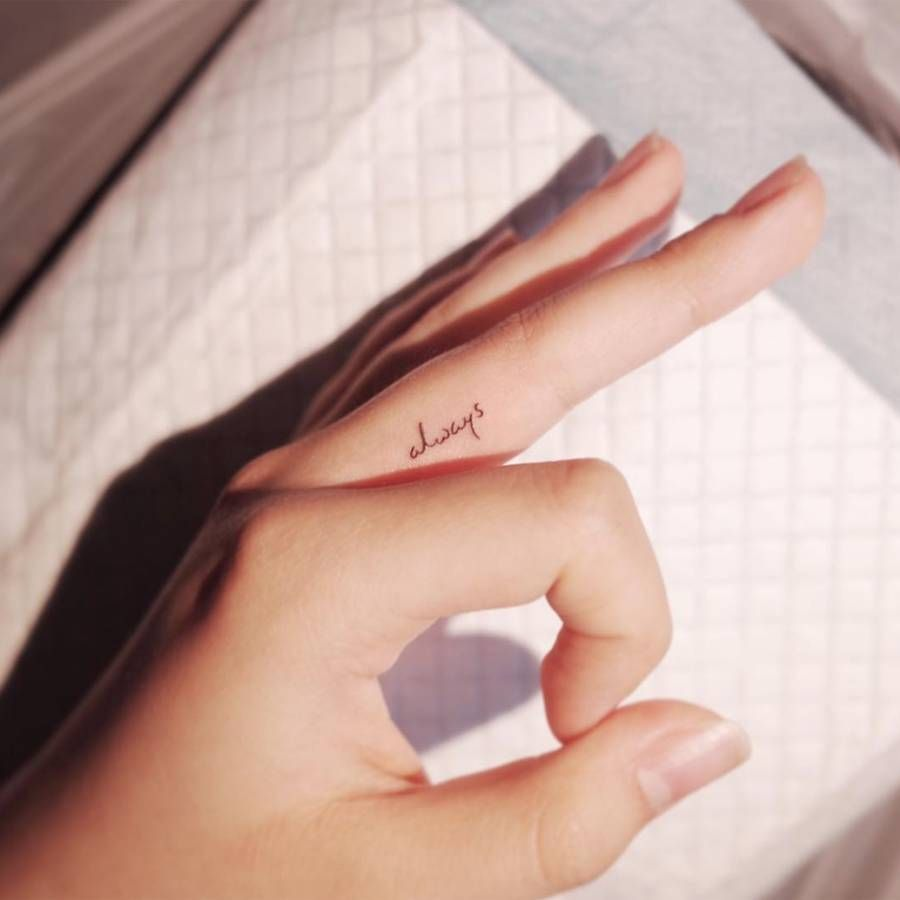 The most delicate finger tattoo ideas to give you major inspiration