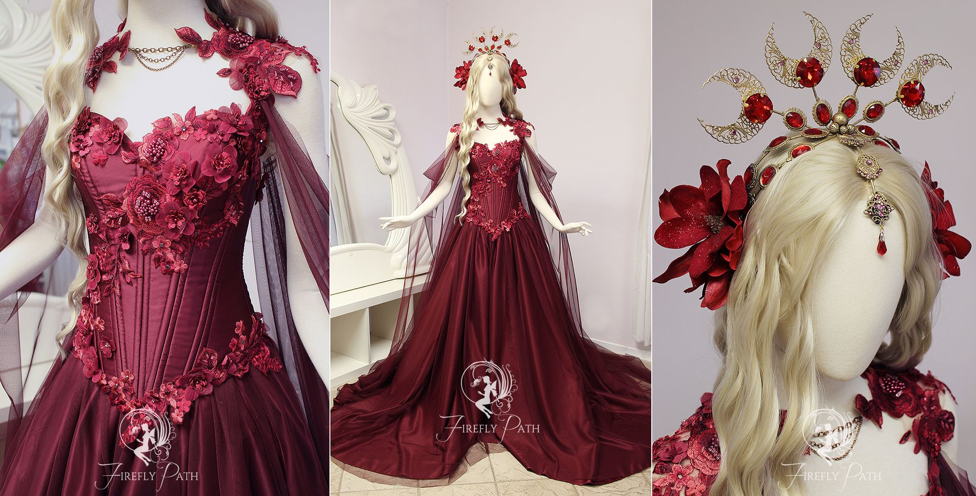 Ruby Rose Gown by Firefly-Path | Firefly Path Creations | Pinterest ...
