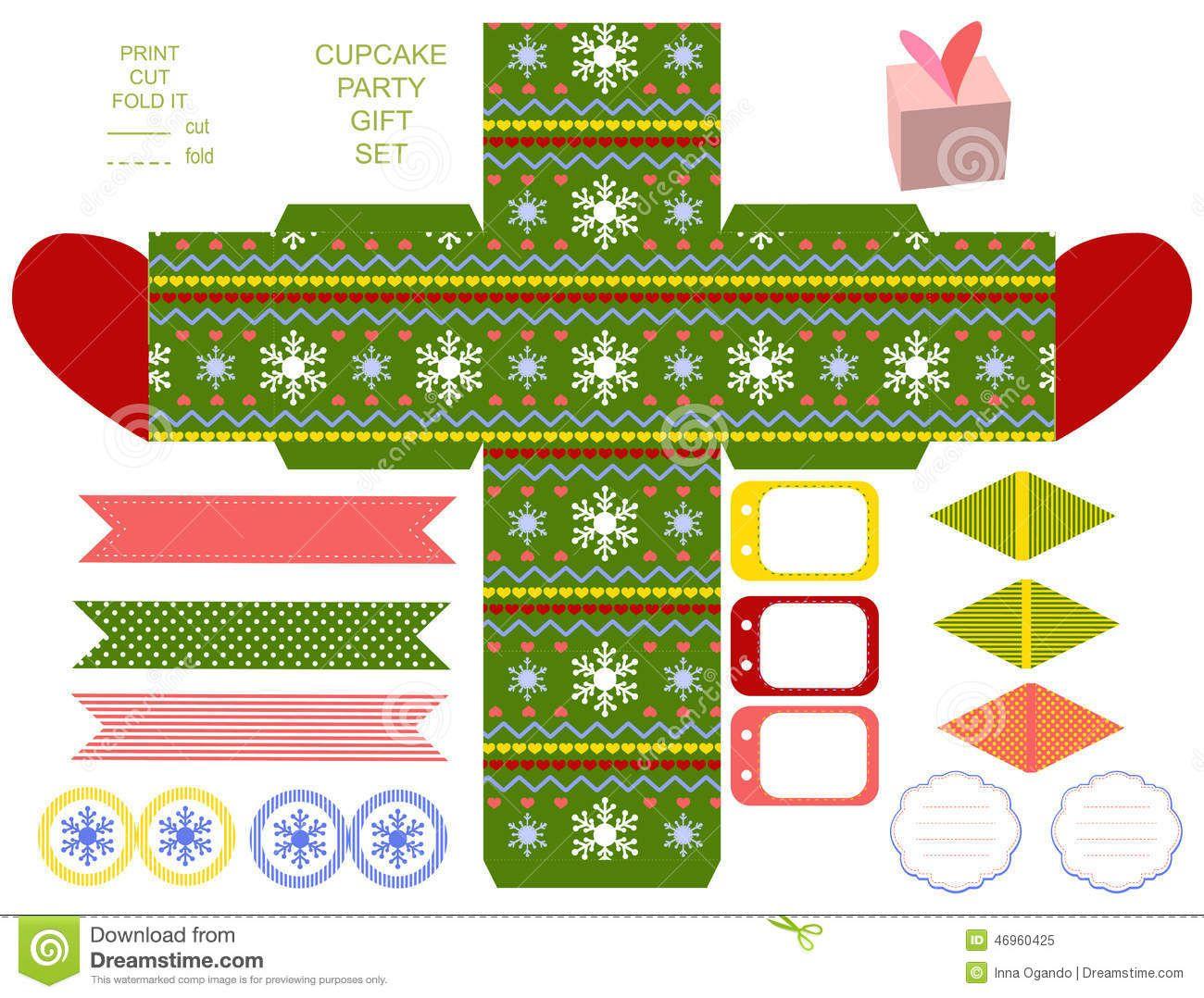 Christmas Gift Box Template Stock Vector - Image: 46960425 | Cajas ...