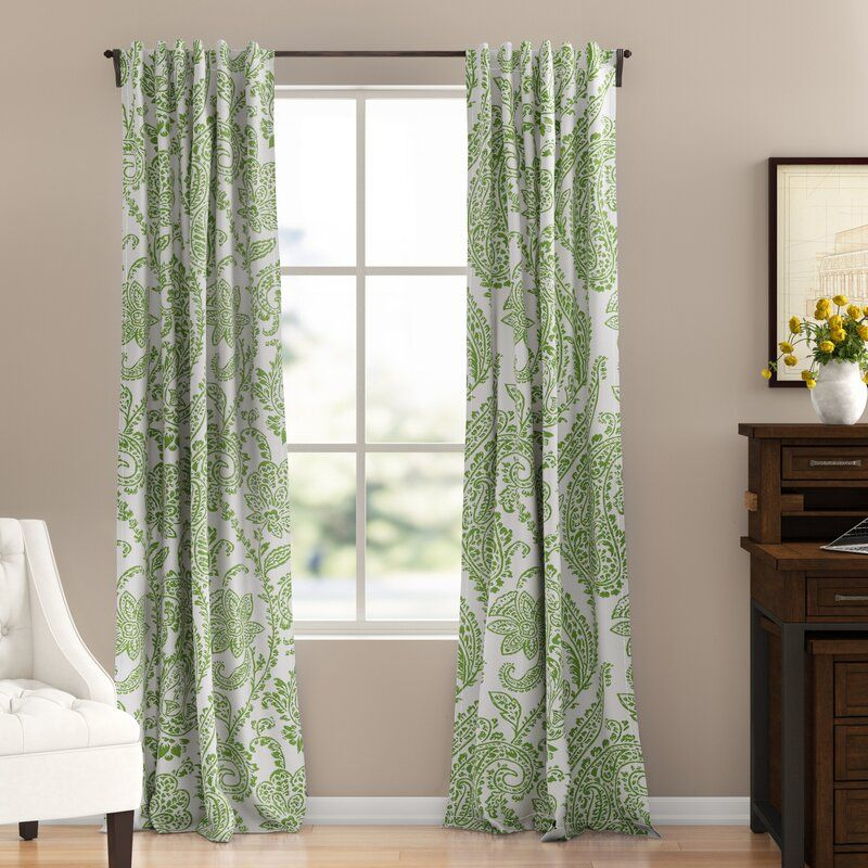Bryton Floral Room Darkening Rod Pocket Single Curtain Panel Panel Curtains Floral Room Colorful Curtains