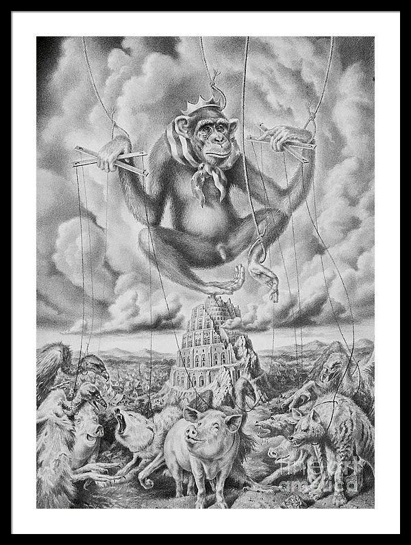 Babylonian Tower Framed Print by Alexander Donskoi