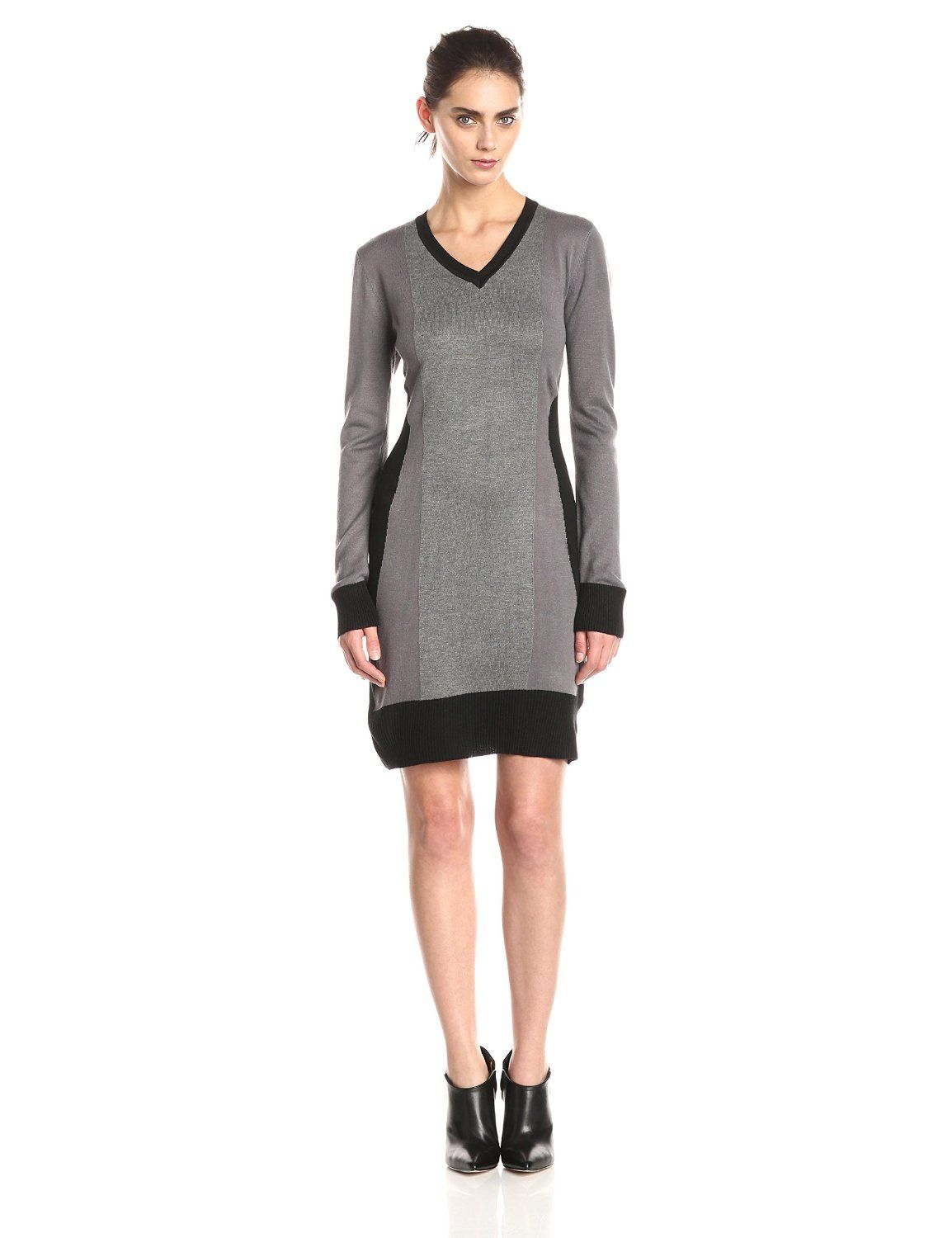 bca55931f98 Color-Block Sweater Dress by Allison Brittney
