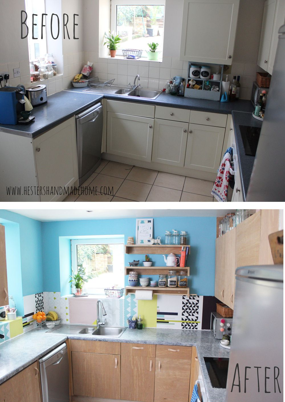A Modern Diy Kitchen Makeover On A Budget Love The