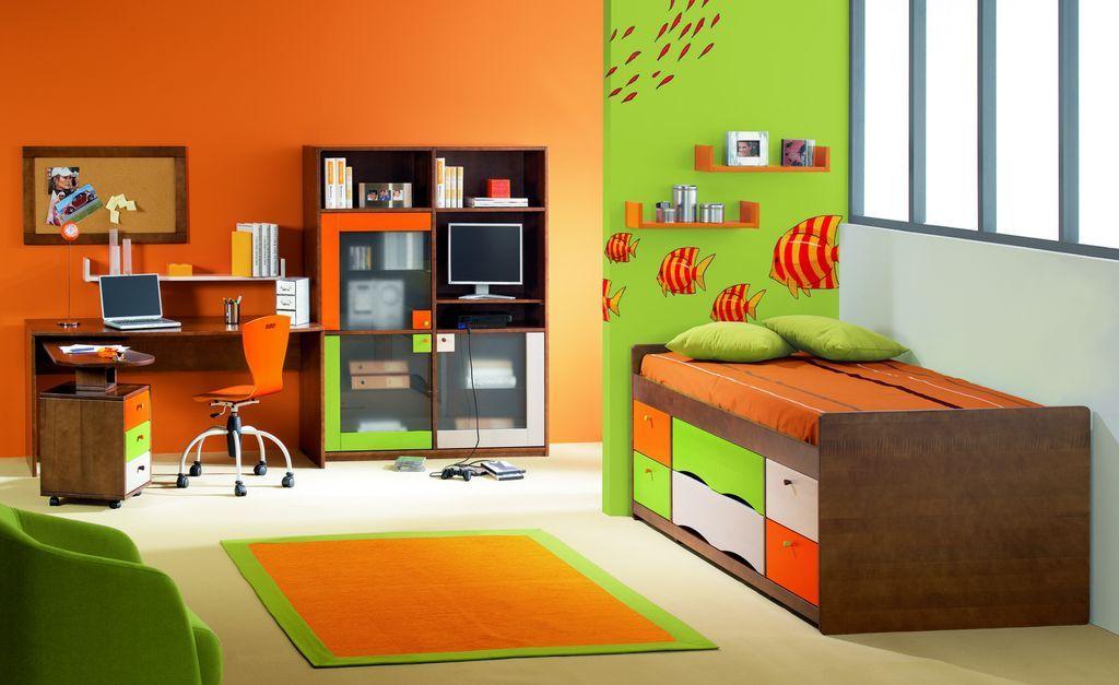 Très belle chambre d\'enfant toute en couleurs | decoration chambre ...