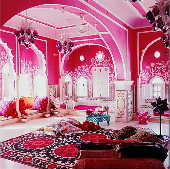 India Palace pink home palace decorate india living room ...