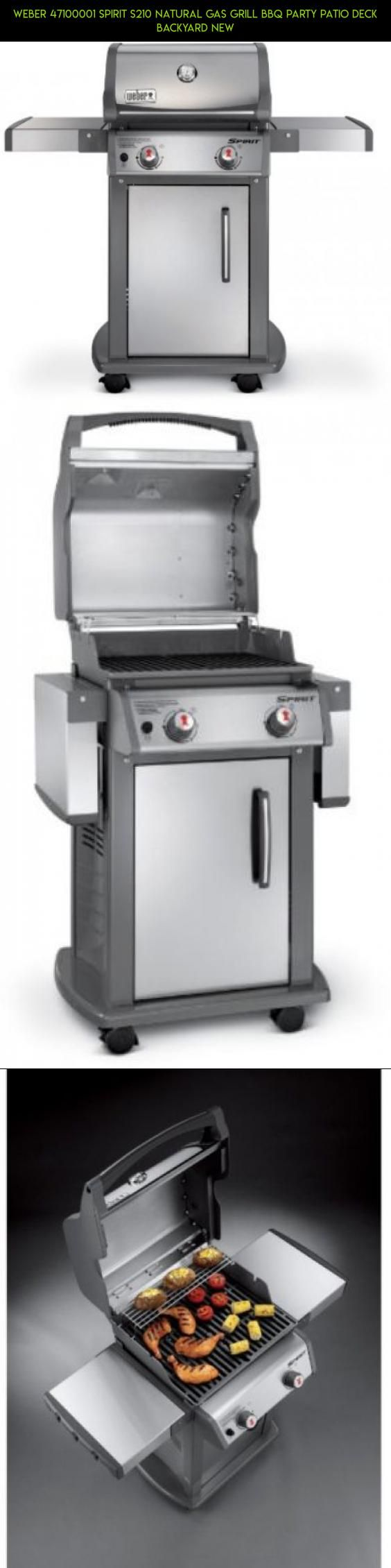 weber 47100001 spirit s210 natural gas grill bbq party patio deck