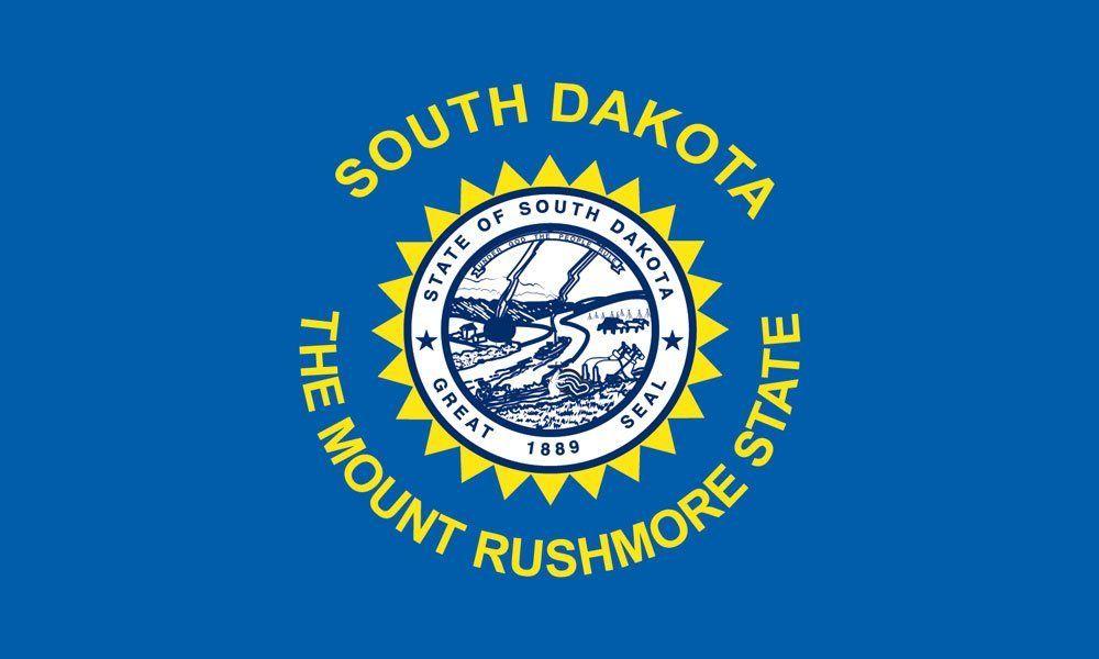 South Dakota State Flag Coloring Pages Yuzhnaya Dakota