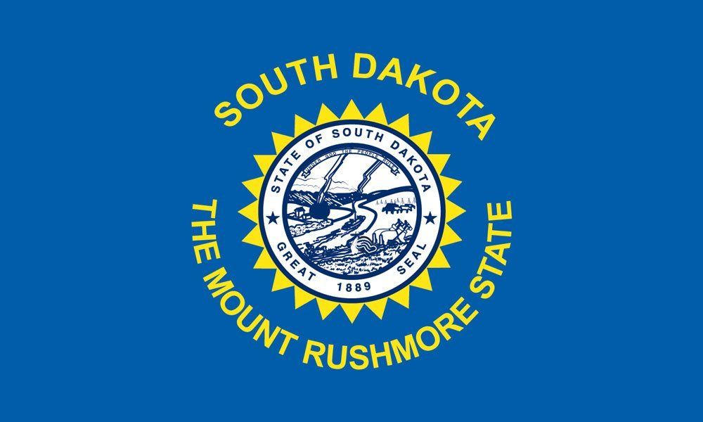 South Dakota State Flag Coloring Pages Yuzhnaya Dakota