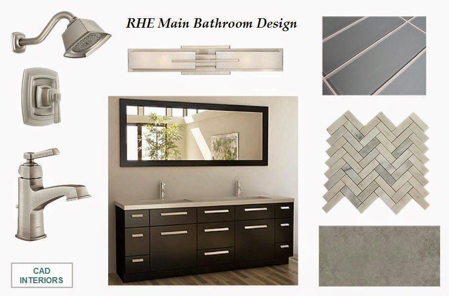 main bathroom renovation design board
