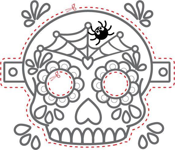 Image result for paper fold dia de los muertos skulls