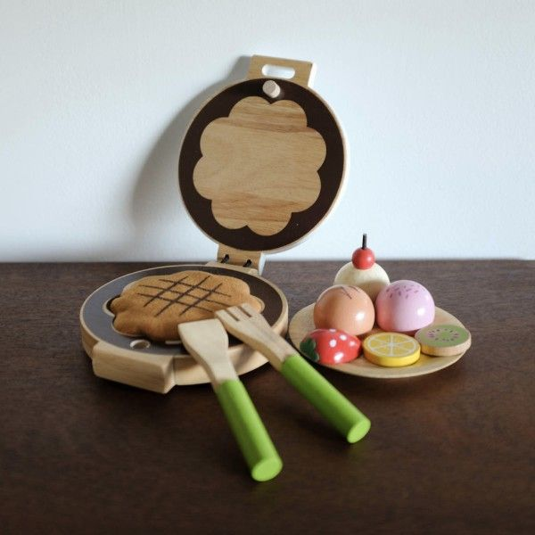 Shop Merci Milo Milo Amp Kiddies Waffle Iron Wooden