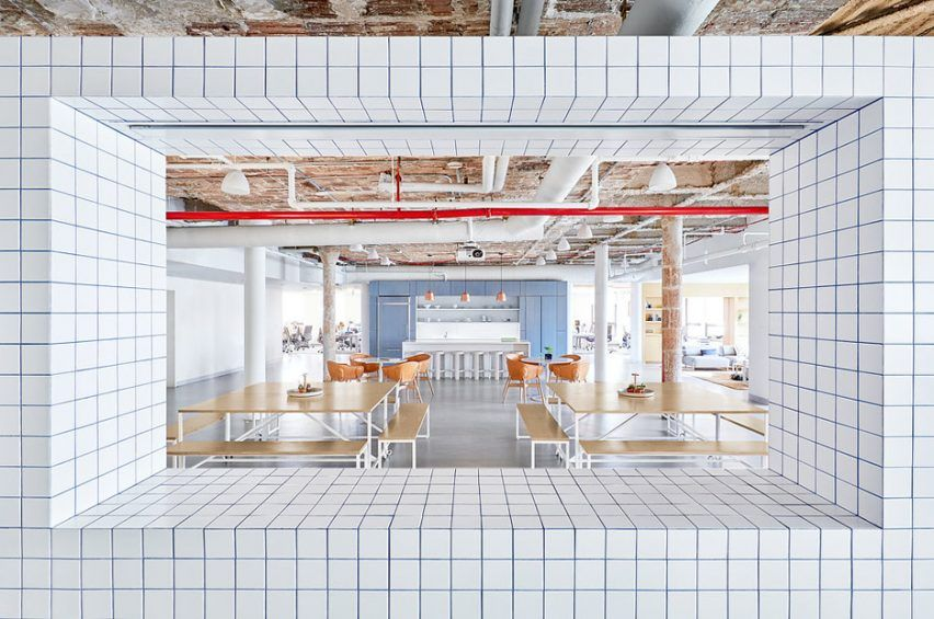 Float Design Studio S Office For Casper Before Small Rooms Blocked Natural Light From Reaching T With Images Workspace Design Design Studio Office Office