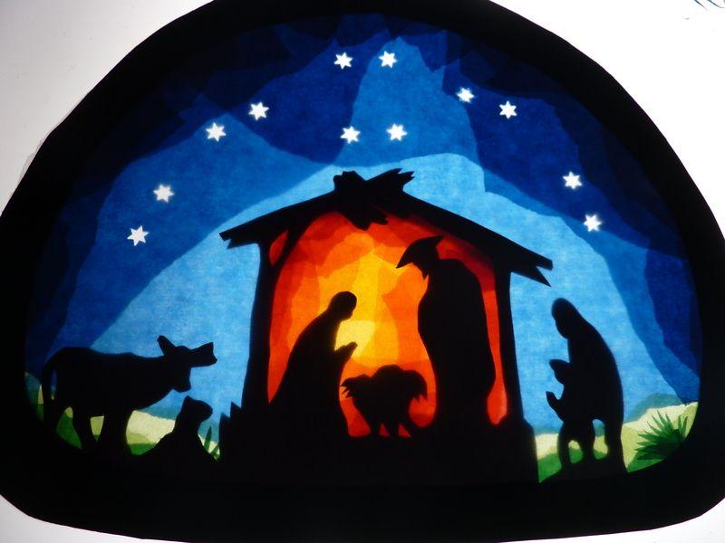 Transparentfensterbild Krippe Basteln Weihnachten Fenster Fensterbilder Weihnachten Adventfenster