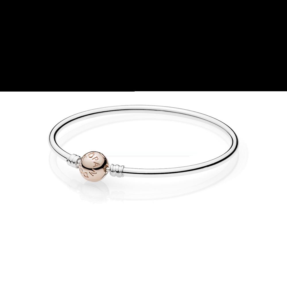 pandora moments bracelet with rose gold clasp