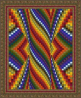 Pillar of Flame Bargello By Denise Smart | Quilting Ideas | Bargello