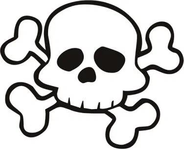 Calaveras Piratas Infantiles Para Imprimir Clip Art Simple Skull Skull And Crossbones