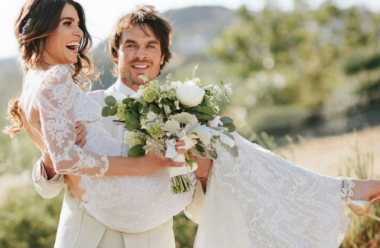 Feud between ian somerhalder and nikki reed directs them to nikki reed and ian somerhalder share exclusive wedding photos and details junglespirit Images