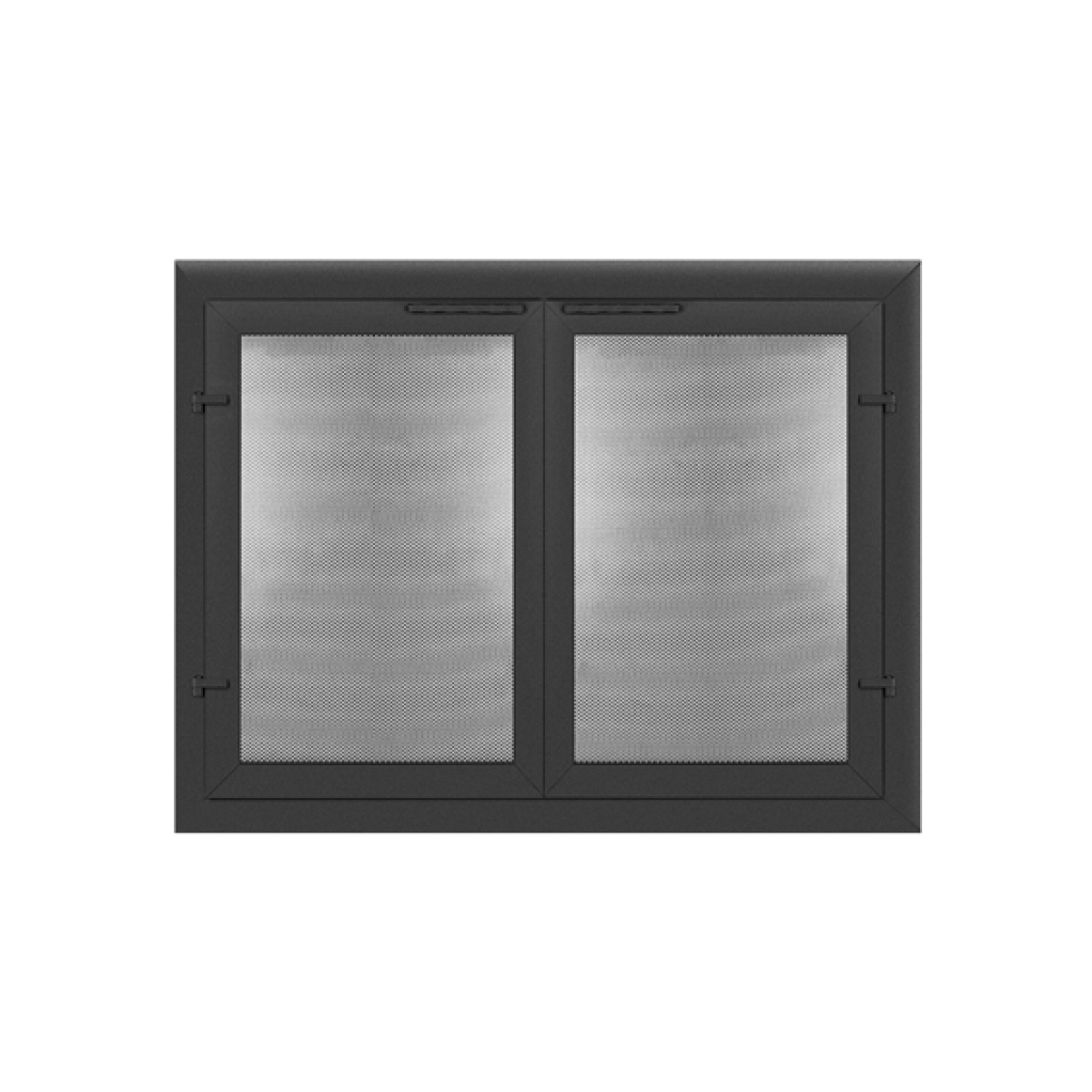 Normandy sparkguard mesh fireplace doors tarnish free anodized