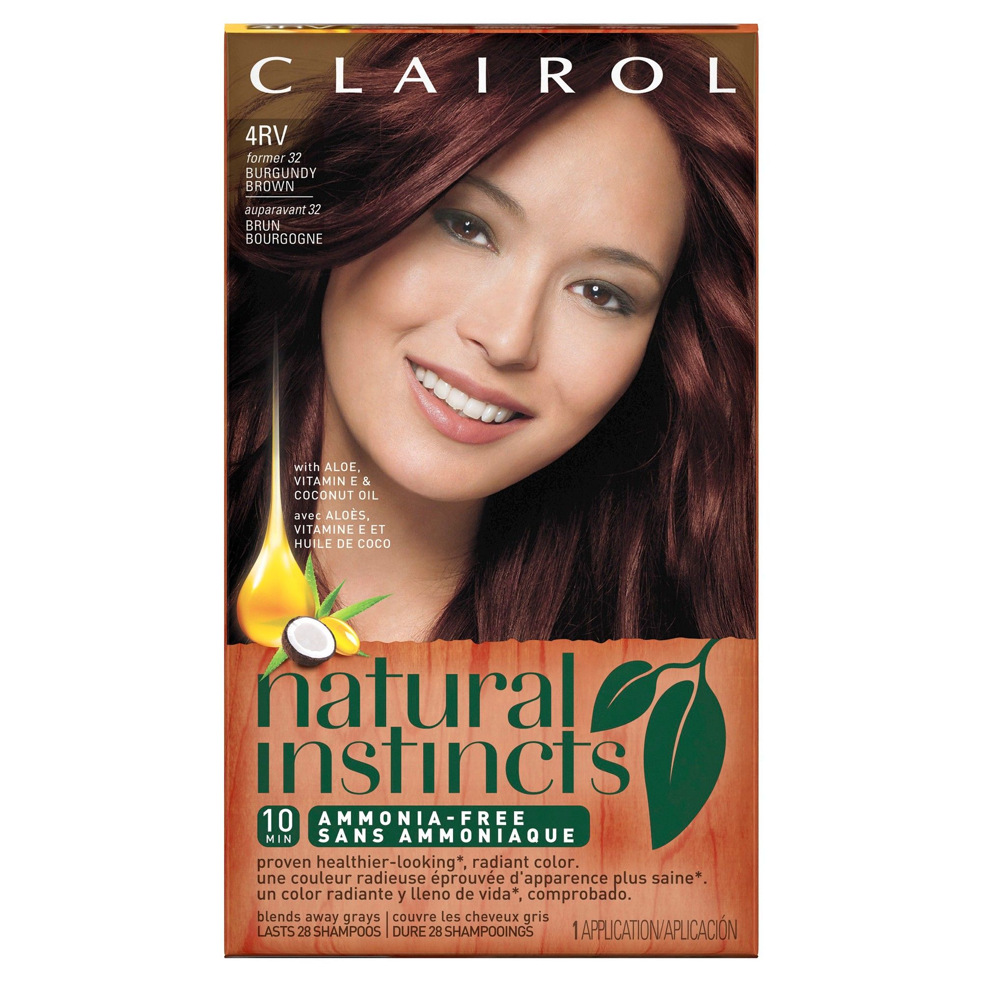 Clairol Natural Instincts Non Permanent Hair Color 4rv32 Egyptian