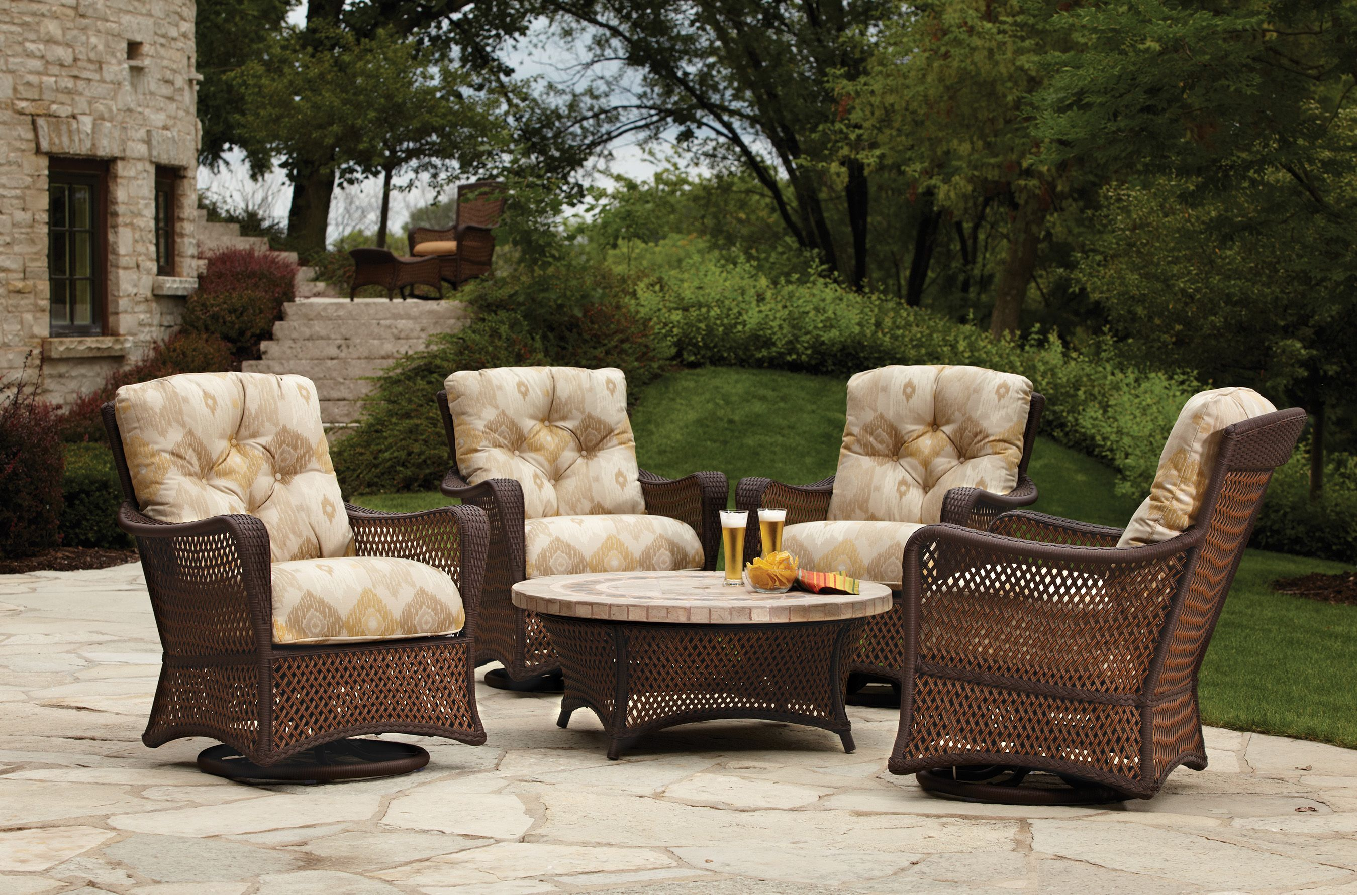 Lloyd Flanders Grand Traverse Wicker Patio Furniture Chat Group