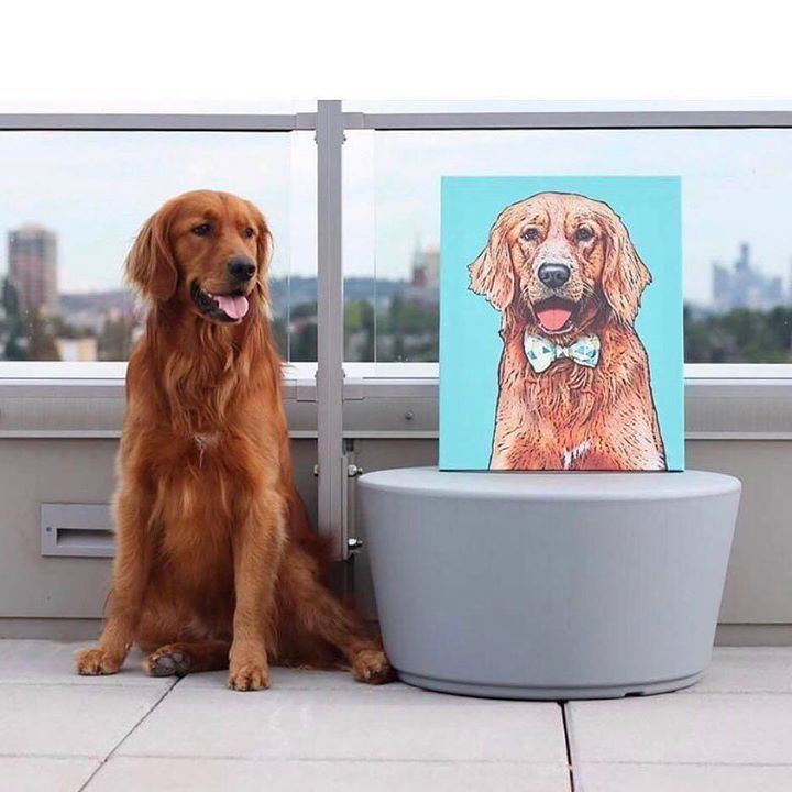 Looking For Golden Retriever Gift Ideas Our Custom Pet Art Prints