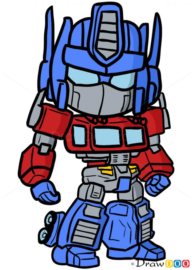 How To Draw Optimus Prime Chibi 80s Stuff Pinterest