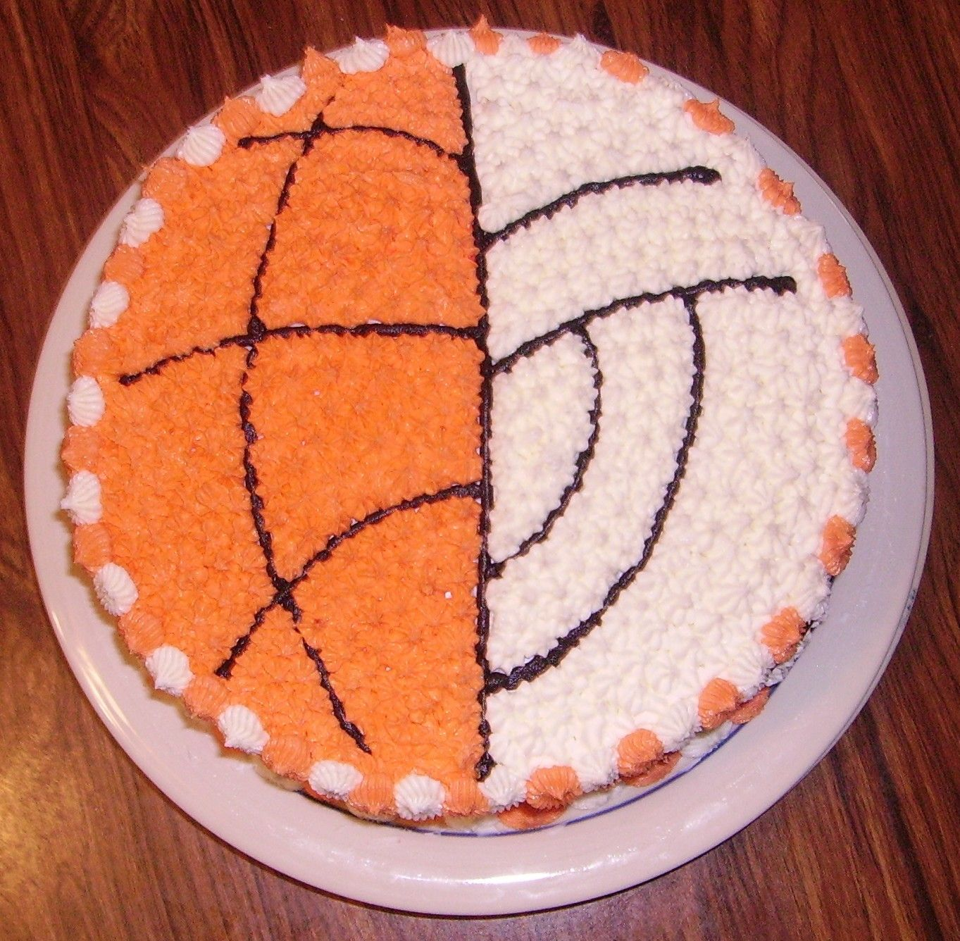 Volleyball Basketball Cake Volleyball Basketball Cake Volleyball Cakes Basketball Birthday Cake