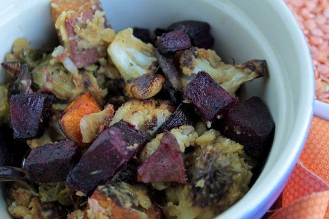 Roasted Vegetables & Lentils