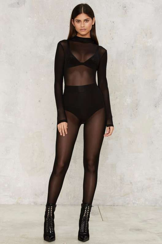 4c9a3a3132 Mesh Consumption Sheer Bodysuit