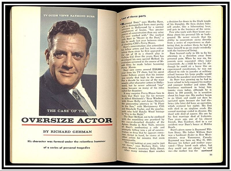 Two Tv Guides With Lawrence Welk Marjorie Lord Covers Perry Mason Tv Guide Mason Raymond