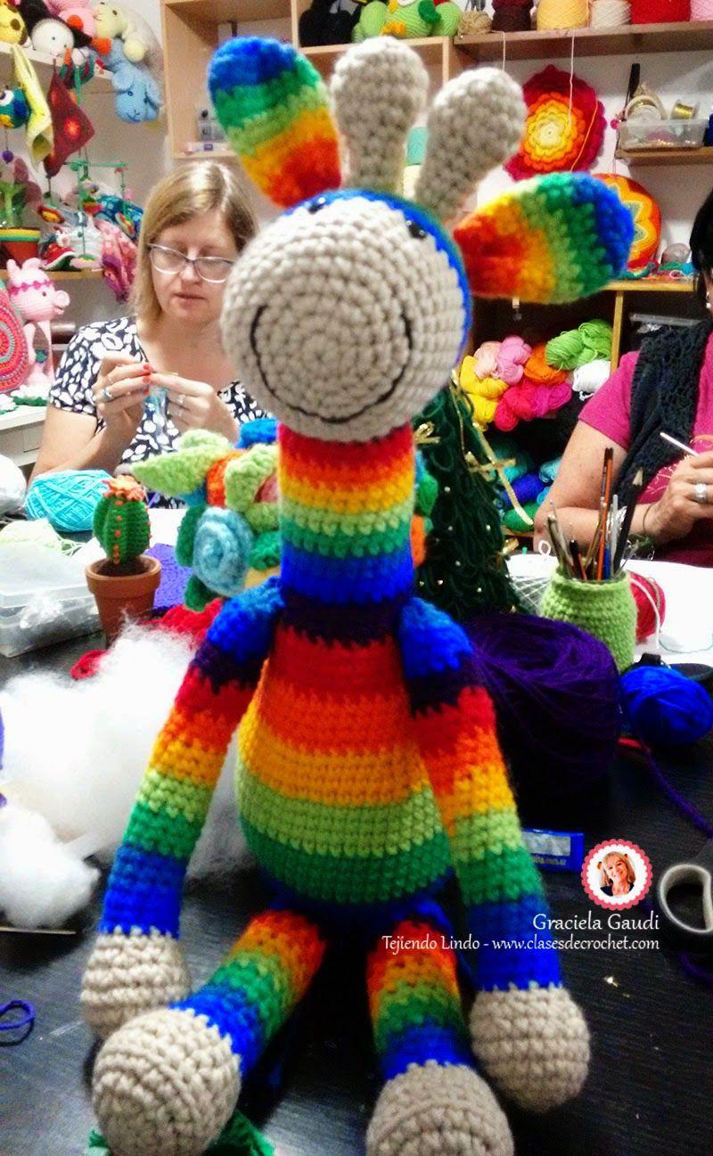 clases crochet, amigurumis, jirafa crochet | Patrones Amigurumi ...