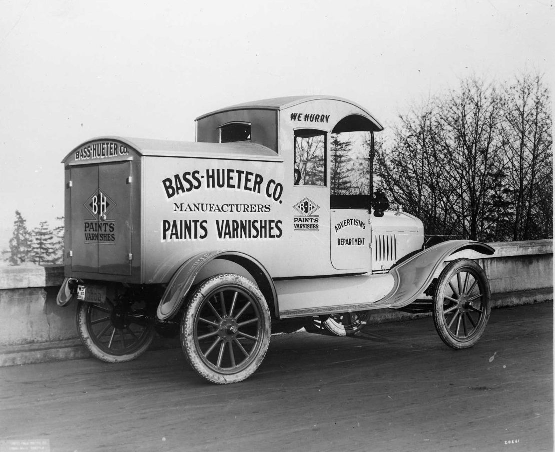 Model T Ford Forum: Old Photo - Bass-Hueter Co. Delivery Van   Model ...