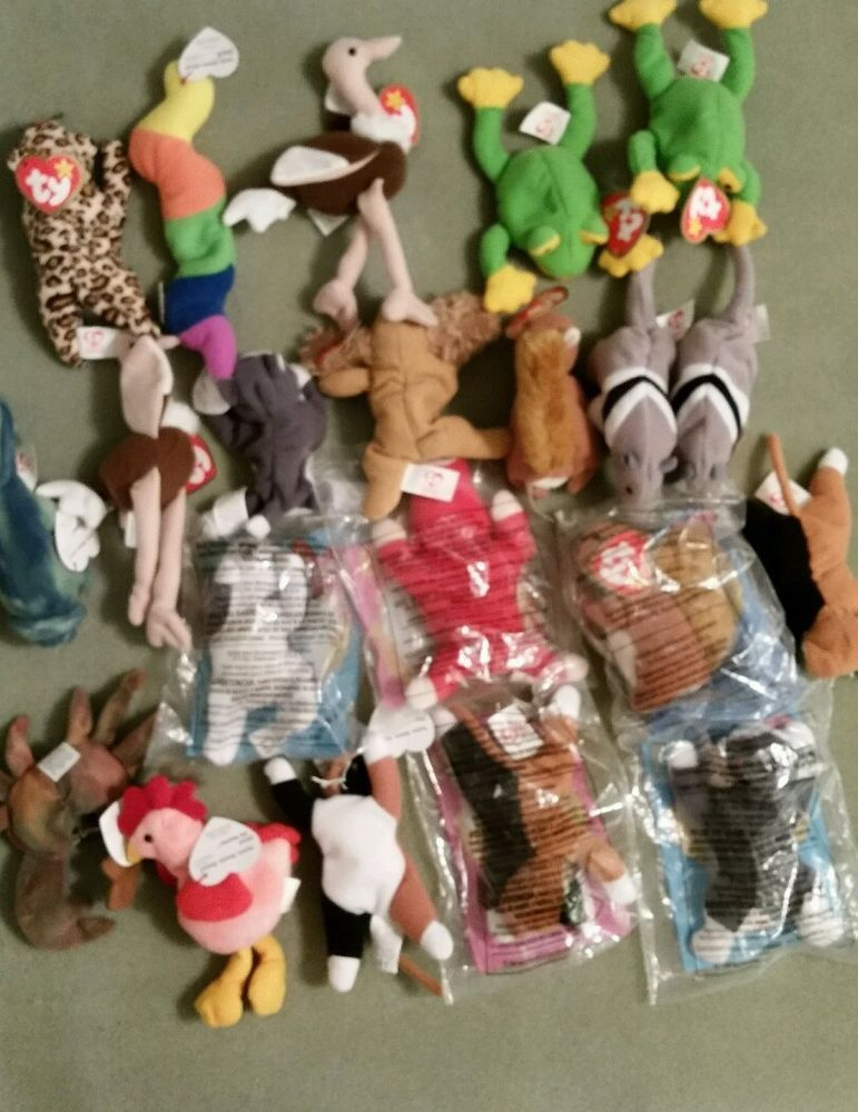 66c0fbcc7f7 Lot of 21 Teenie TY Beanie Babies McDonalds 1996-1999 All Have Hang Tags  Stored  Ty