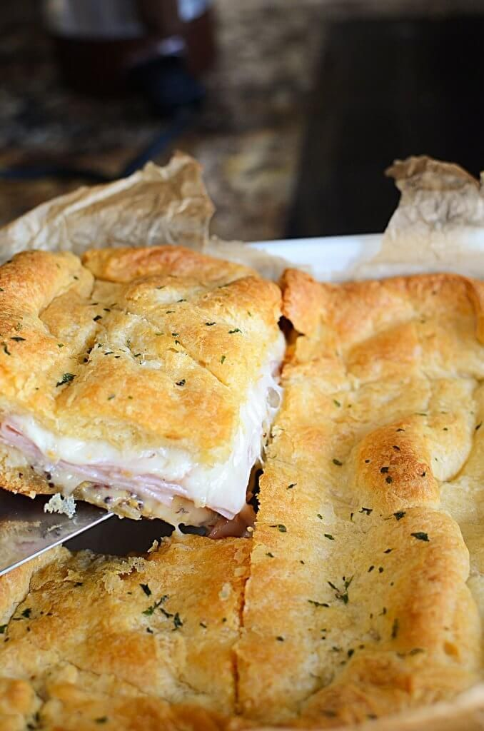EASY HOT HAM AND CHEESE SANDWICHES - #Cheese #easy #Ham #Hot #Sandwiches
